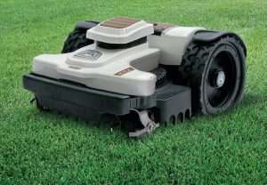 Ambrogio 4.0 robot mower on grass