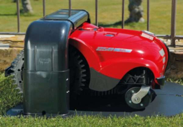 Ambrogio L250i robot mower in docking station
