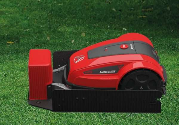 Ambrogio L35 robot mower in docking station