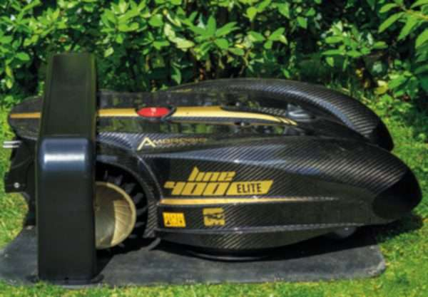 Ambrogio L400i Robot Mower in charger