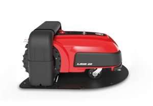 Ambrogio L350 robot mower in docking station