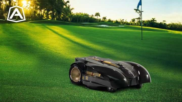 Ambrogio L400i commercial robot mower on golf course