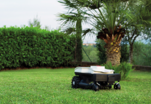 Ambrogio Twenty Robot Mower In Garden