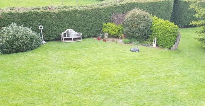 Our first robotic mower